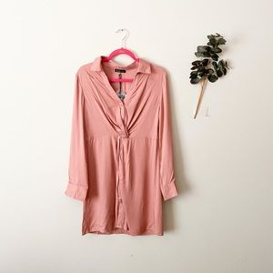 NWT Very J alight Pink Long Sleeve Shirt Medium